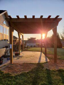 Custom Pressure Treated Wood Pergola Builders Hanover, PA DREAMscapes 8