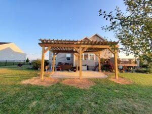 Custom Pressure Treated Wood Pergola Builders Hanover, PA DREAMscapes 3