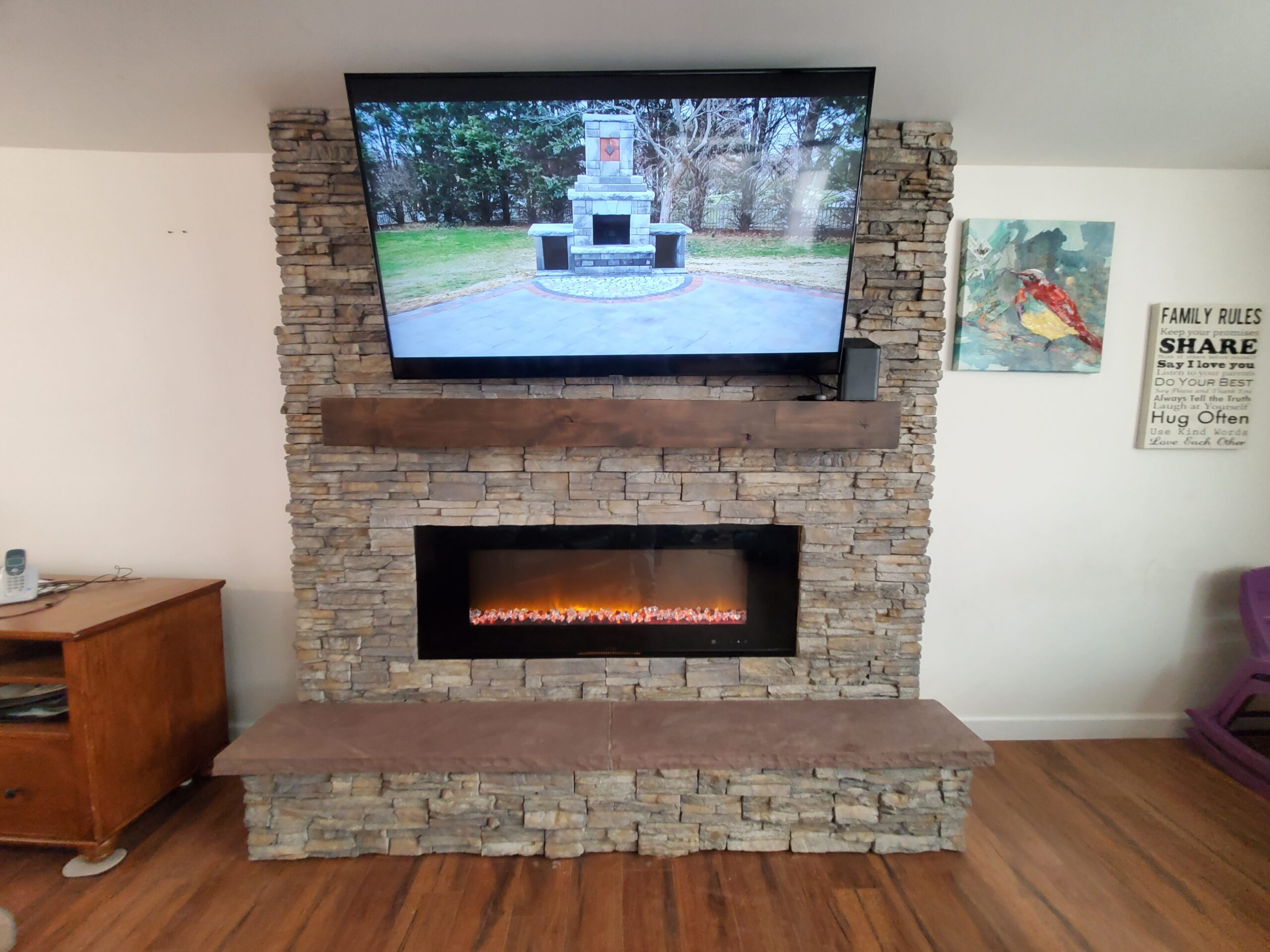 Indoor Stone Veneer Fireplace - Hanover, PA DREAMscape Outdoors Stone Veneer