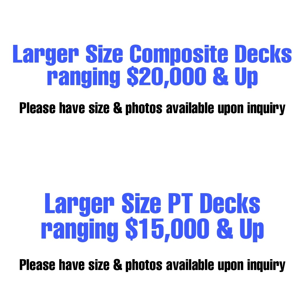 Deck Pricing Hanover, PA